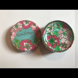 Lilly Pulitzer Glass/Ceramic Coasters set of 4